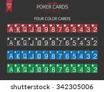 four colors poker cards vector...