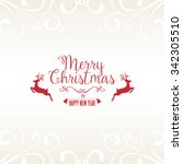 christmas card with greetings | Shutterstock .eps vector #342305510