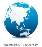 china  japan  malaysia ... | Shutterstock .eps vector #342307559