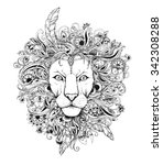 excellent lion graphic style... | Shutterstock .eps vector #342308288