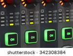 sound system control panel.   Shutterstock . vector #342308384