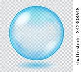 Big Blue Transparent Glass...
