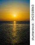 Sunrise In The Sea. Beauty...