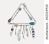 vector illustration with tribal ... | Shutterstock .eps vector #342319910