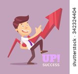 businessman pointing up arrow.... | Shutterstock .eps vector #342324404