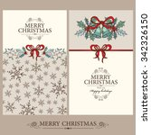 Vector Set  Christmas Cards...