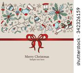 christmas card with christmas... | Shutterstock .eps vector #342326159