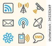 communication web icons ... | Shutterstock .eps vector #342332669