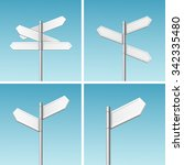 vector blank direction signpost ... | Shutterstock .eps vector #342335480