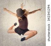 street dance woman jumping | Shutterstock . vector #342341294