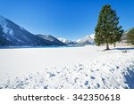 Snowy Mountain Landscape In Th...