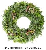 Christmas Wreath From Fir  Pin...