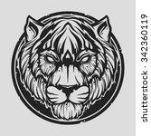 tiger head | Shutterstock .eps vector #342360119