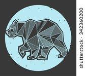 abstract bear geometric  | Shutterstock .eps vector #342360200