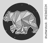 abstract bear geometric  | Shutterstock .eps vector #342360224