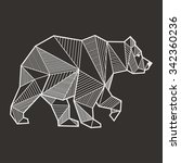 abstract bear geometric  | Shutterstock .eps vector #342360236