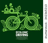 ecologic driving green concept... | Shutterstock .eps vector #342365213