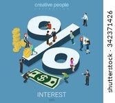 interest rate percent flat 3d... | Shutterstock .eps vector #342371426