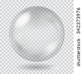 big white transparent glass... | Shutterstock .eps vector #342373976
