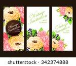 romantic invitation. wedding ... | Shutterstock .eps vector #342374888