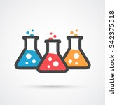 three flasks color icon. | Shutterstock .eps vector #342375518