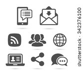 business finance icons isolated ... | Shutterstock .eps vector #342376100