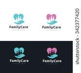 family care logo  | Shutterstock .eps vector #342377420