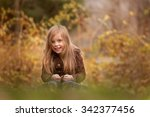 Outdoor Portrait In Autumn Of A ...