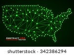 abstract polygonal  map usa... | Shutterstock .eps vector #342386294