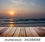 landscape with wood terrace    Shutterstock . vector #342388088