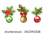 christmas and new year vector... | Shutterstock .eps vector #342393338