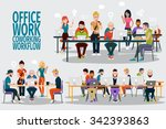 business people working office... | Shutterstock .eps vector #342393863
