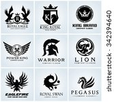 crest logo collection set... | Shutterstock .eps vector #342394640