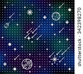 seamless vector space pattern.... | Shutterstock .eps vector #342398270