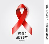 1st december world aids day... | Shutterstock .eps vector #342407786