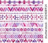 watercolor tribal navajo... | Shutterstock . vector #342408914