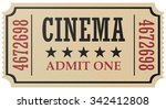 vintage retro cinema creative... | Shutterstock . vector #342412808