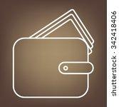 wallet illustration. line icon | Shutterstock . vector #342418406