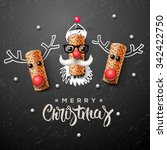 christmas characters  santa... | Shutterstock .eps vector #342422750