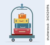 baggage  luggage  suitcases  on ... | Shutterstock .eps vector #342424496