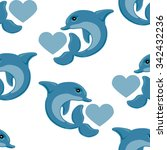 seamless romantic pattern with... | Shutterstock .eps vector #342432236