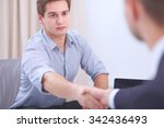 business people handshake ... | Shutterstock . vector #342436493