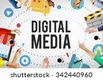digital media multimedia... | Shutterstock . vector #342440960
