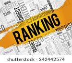 ranking word cloud  business... | Shutterstock .eps vector #342442574