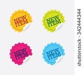 vector new sale labels set | Shutterstock .eps vector #342444344