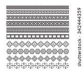 asian frame ornament  pattern... | Shutterstock .eps vector #342444359