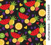 seamless pattern with colorful... | Shutterstock .eps vector #342444449