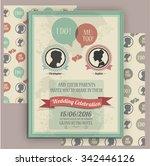 wedding invitation card... | Shutterstock .eps vector #342446126