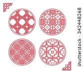 traditional asian window...   Shutterstock .eps vector #342448268