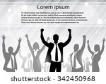 business people celebration... | Shutterstock .eps vector #342450968